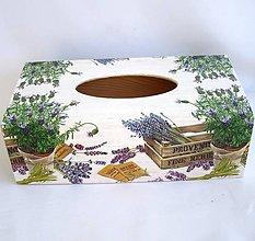 Krabičky - Krabica na vreckovky-Provencia - 9197484_