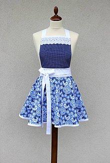 Iné oblečenie - zástera Folki modrá - 9198167_