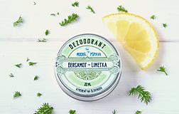 - Krémový dezodorant Bergamot-Limetka (45g/30ml) - 9196894_
