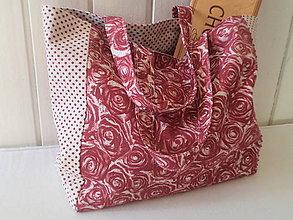 Nákupné tašky - Ruže na režnom - 9201461_