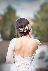 Ozdoby do vlasov - Dlhší svadobný polvenček - 9201317_