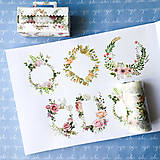 Papier - maxi washi páska Kvetinové rámiky, 9 cm x 5 m - 9199680_