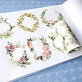 Papier - maxi washi páska Kvetinové rámiky, 9 cm x 5 m - 9199682_
