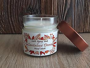 Svietidlá a sviečky - Sviečka zo 100% sójového vosku v skle - Santalové Drevo (-30%) - 9196868_