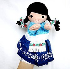 Hračky - Maňuška folk dievčinka - Barborka - 9200202_