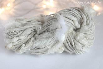 Materiál ručne robený - NATURAL & CORESPUN FEATHERS Ručne pradená merino vlna - 9197233_
