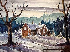 Obrazy - Dom v lese - 9198509_