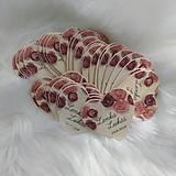 Darčeky pre svadobčanov - Magnetka pre hostí v tvare srdiečka - 9198004_