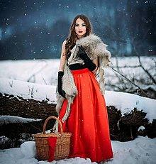 Sukne - Maxi satenova sukňa v páse do gumy - 9201244_