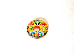 Komponenty - folklorny kaboson - rozkvitnuty tulipan zlty 20mm - 9199117_