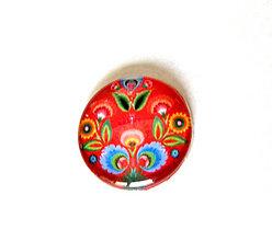 Komponenty - folklorny kaboson - tulipan cerveny 20mm - 9199517_