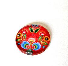 Komponenty - folklorny kaboson - cerveny tulipan 25mm - 9199534_