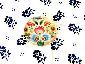 Komponenty - folklorny kaboson - kremo tulipan II 20mm - 9200052_