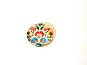 Komponenty - folklorny kaboson - kremo tulipan 25mm - 9200099_