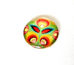 Komponenty - folklorny kaboson - zeleny kvet 20mm - 9200513_