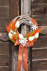 Dekorácie - Jarný venček na dvere - 9195922_