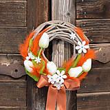 Dekorácie - Jarný venček na dvere - 9195924_