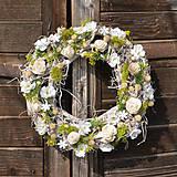 Dekorácie - Jarný veniec s čerešňovými kvetmi - 9201503_