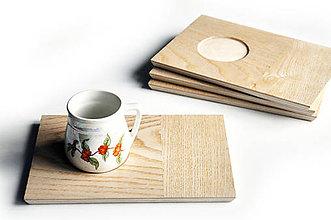 Nádoby - MON Jaseň /Drevený servírovací podnos na kávu/ - 9196283_