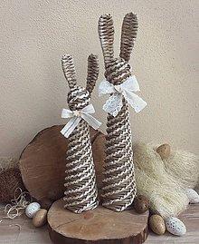 Dekorácie - Veľkonočný zajac - 9196249_