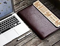 Na notebook - VOŇAVÉ KOŽENÉ PUZDRO ČIČMANY BORDOVÉ - 9200768_