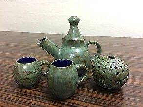 Nádoby - Keramický čajový set - 9196006_