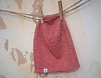 Detské čiapky - Dvojvrstvová detská merino čiapka červený šmolko (obvod 42cm) - 9201291_
