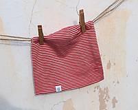 Detské čiapky - Dvojvrstvová detská merino čiapka červený šmolko (obvod 42cm) - 9201292_
