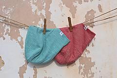 Detské čiapky - Dvojvrstvová detská merino čiapka červený šmolko (obvod 42cm) - 9201298_