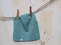 Detské čiapky - Dvojvrstvová detská merino čiapka tyrkysový šmolko - 9201324_