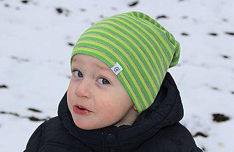 8b0b21e25 Detské čiapky - Dvojvrstvová detská merino čiapka zelený šmolko (42) -  9201371_