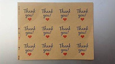 Papier - Samolepky Thank you. - 9196691_