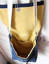 Kabelky - Denimová športová taška - 9198733_