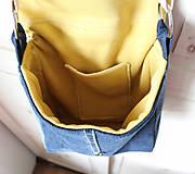 Kabelky - Denimová športová taška - 9198734_