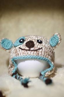 Detské čiapky - Čiapka zvieratko-hnedá - 9200828_