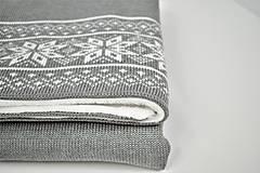 Textil - Pletená zimná deka do kočíka