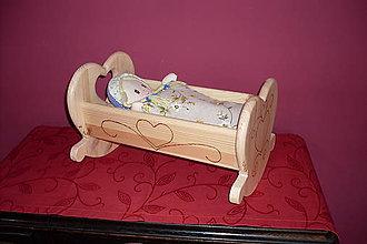Hračky - drevená kolíska malá - 9198373_