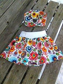 Detské oblečenie - suknička + čelenka - 9198507_