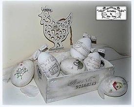 Dekorácie - Vintage vajíčka :) - 9196626_