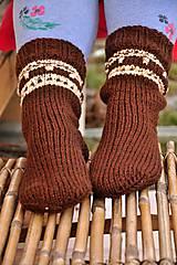 - Hnedé ponožky - 9200233_