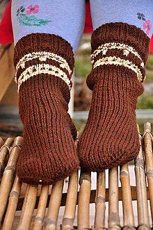 Obuv - Hnedé ponožky - 9200233_