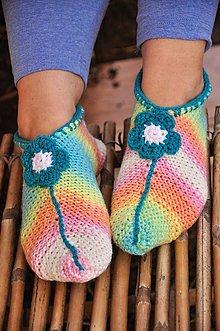 Obuv - dúhové papuče - 9200276_