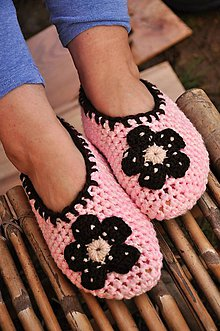 Obuv - ružové papuče podšité filcom č.37-38 - 9200284_