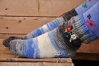 Obuv - Vyšívané ponožky - 9200488_