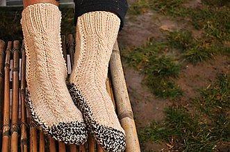 Obuv - béžové ponožky - 9200637_
