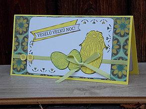 Papiernictvo - ...pohľadnica veľkonočná v žltom... - 9197471_