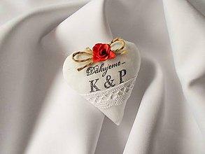 Darčeky pre svadobčanov - Darčeky pre svadobných hostí Ružičkové (Ružičkové