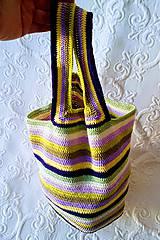 Iné tašky - Pruhovaná plavba - háčkovaná taška - 9200466_