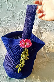 Iné tašky - Tajomná kráska - háčkovaná taška - 9200607_