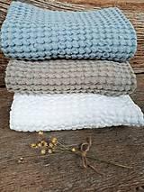 Úžitkový textil - Ľanový uterák Natural I (Modrá) - 9201082_